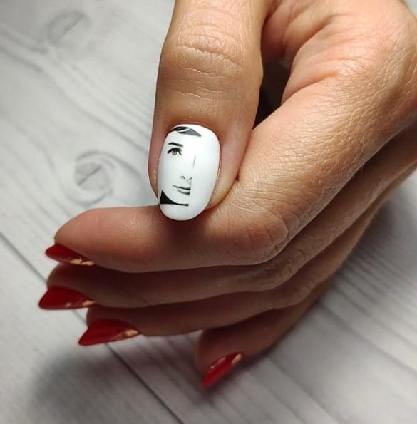 Девушка на ногтях фото 168