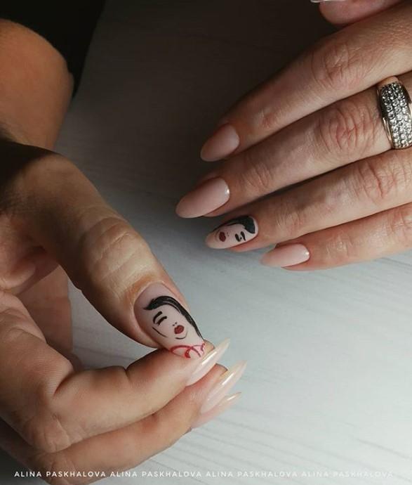 Девушка на ногтях фото 167