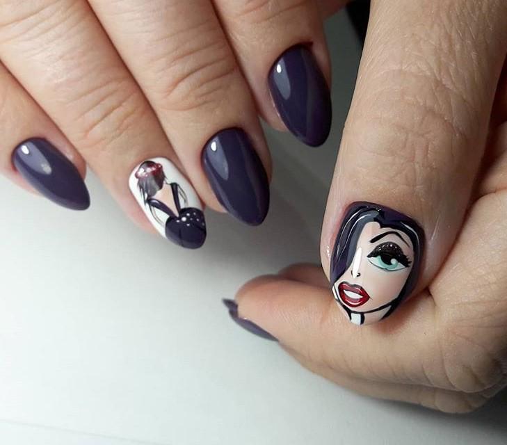 Девушка на ногтях фото 164
