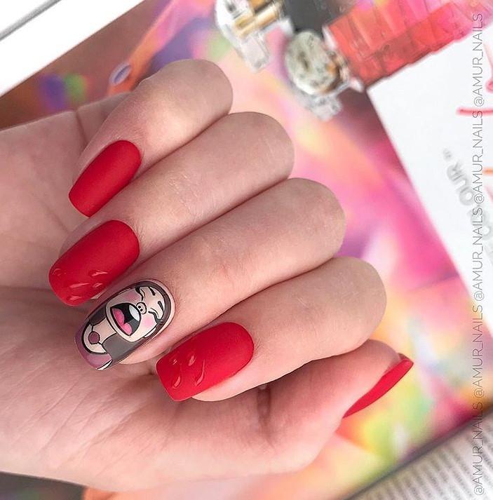 Девушка на ногтях фото 162