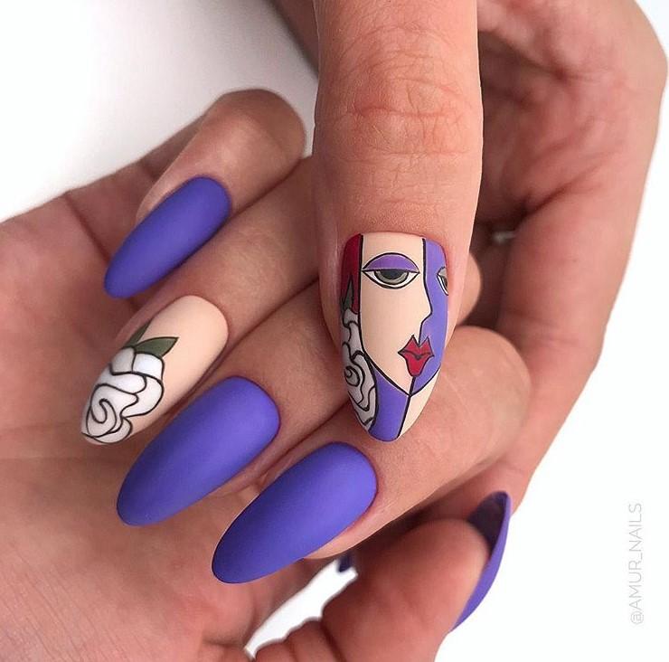 Девушка на ногтях фото 161
