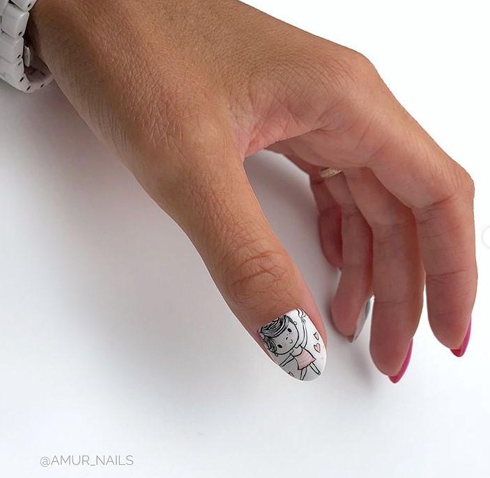 Девушка на ногтях фото 160