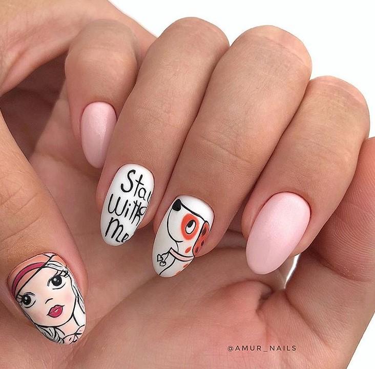 Девушка на ногтях фото 159