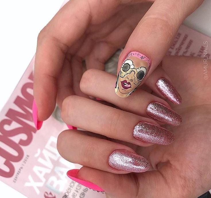 Девушка на ногтях фото 158