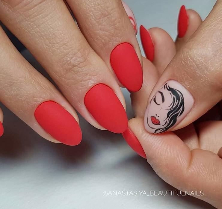 Девушка на ногтях фото 151