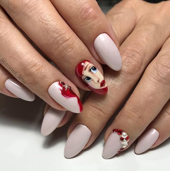 Девушка на ногтях фото 148