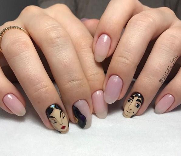 Девушка на ногтях фото 146