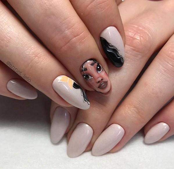 Девушка на ногтях фото 145