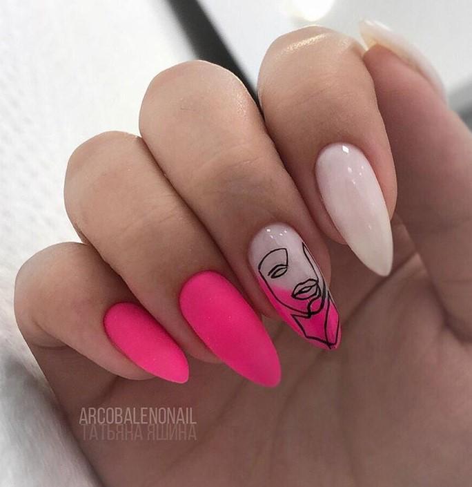 Девушка на ногтях фото 144