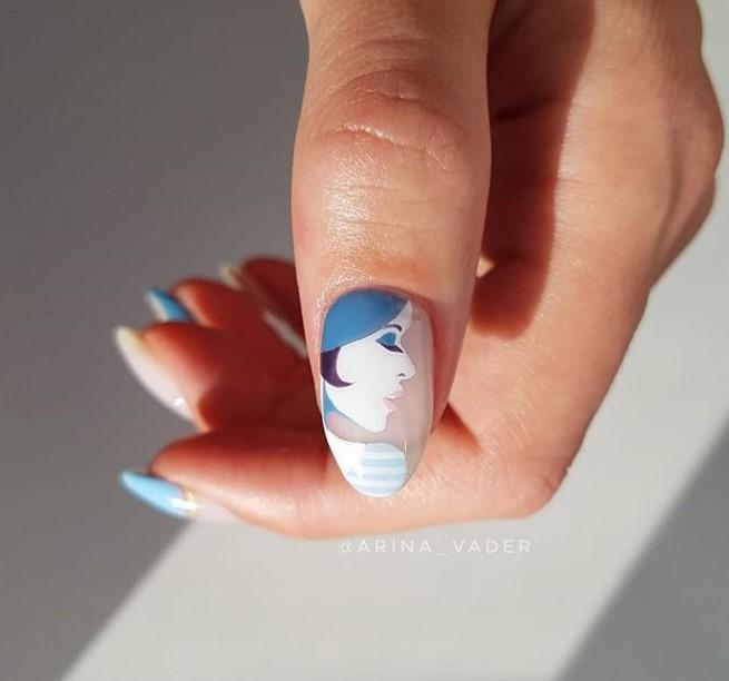 Девушка на ногтях фото 143