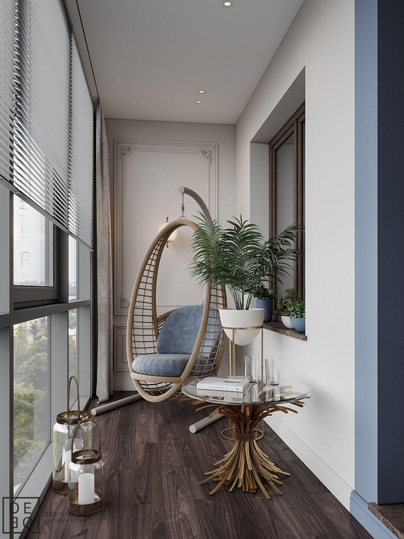 дизайн интерьера балкона фото 13