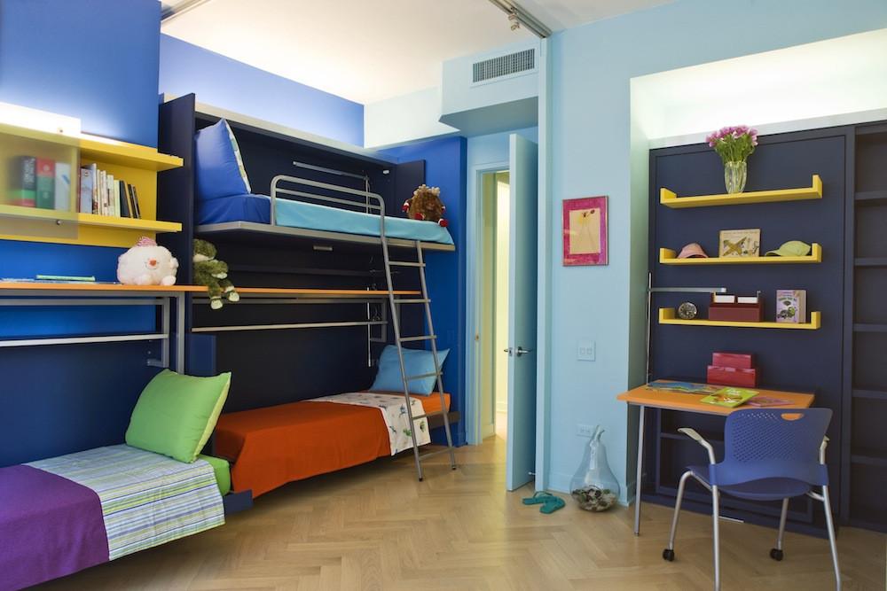 Комнаты для 3-х и более детей фото 21