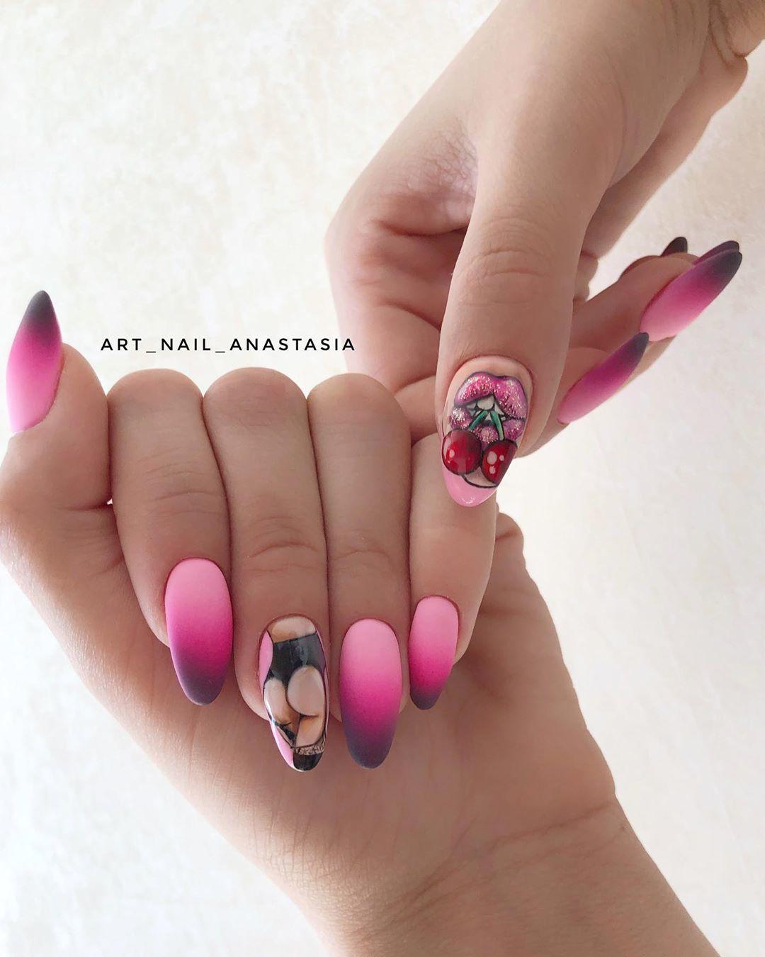 Девушка на ногтях фото 139