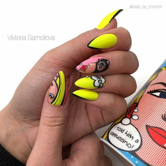 Девушка на ногтях фото 182