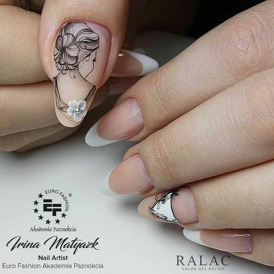 Девушка на ногтях фото 138