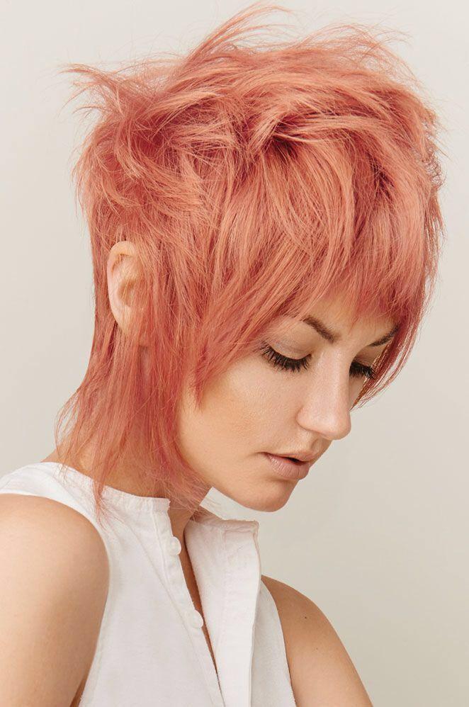 Персиковый оттенок волос фото 15