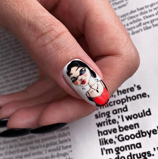 Девушка на ногтях фото 132