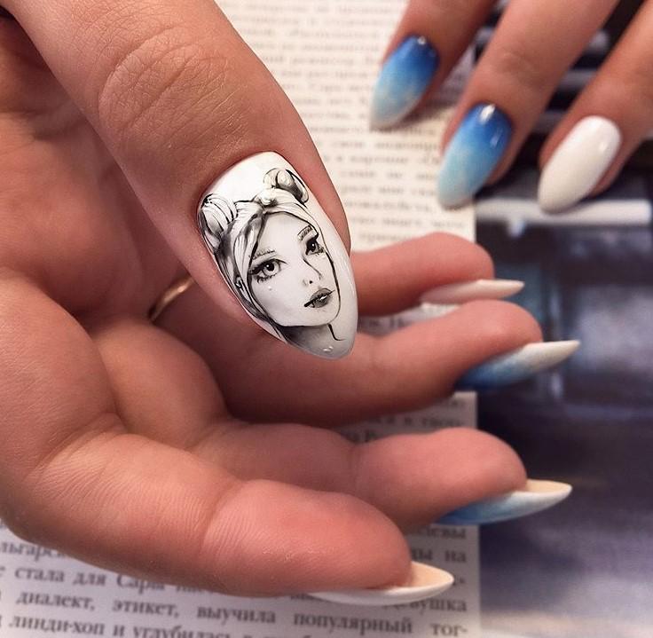 Девушка на ногтях фото 127