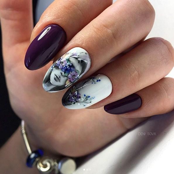 Девушка на ногтях фото 125