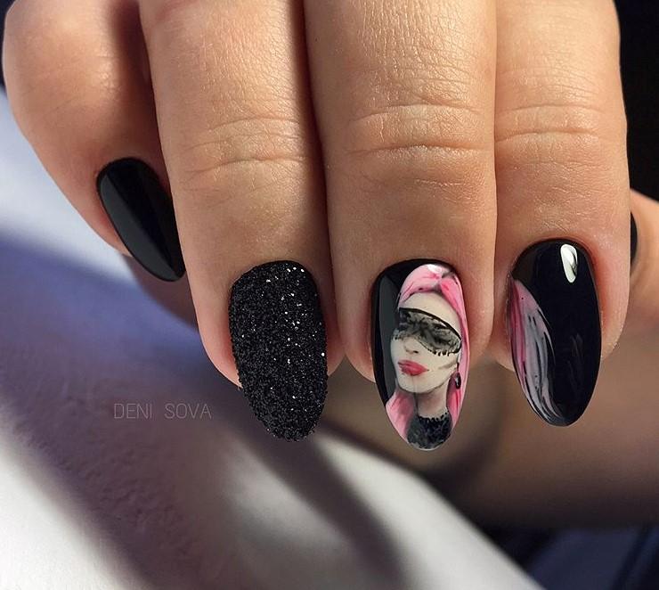 Девушка на ногтях фото 124