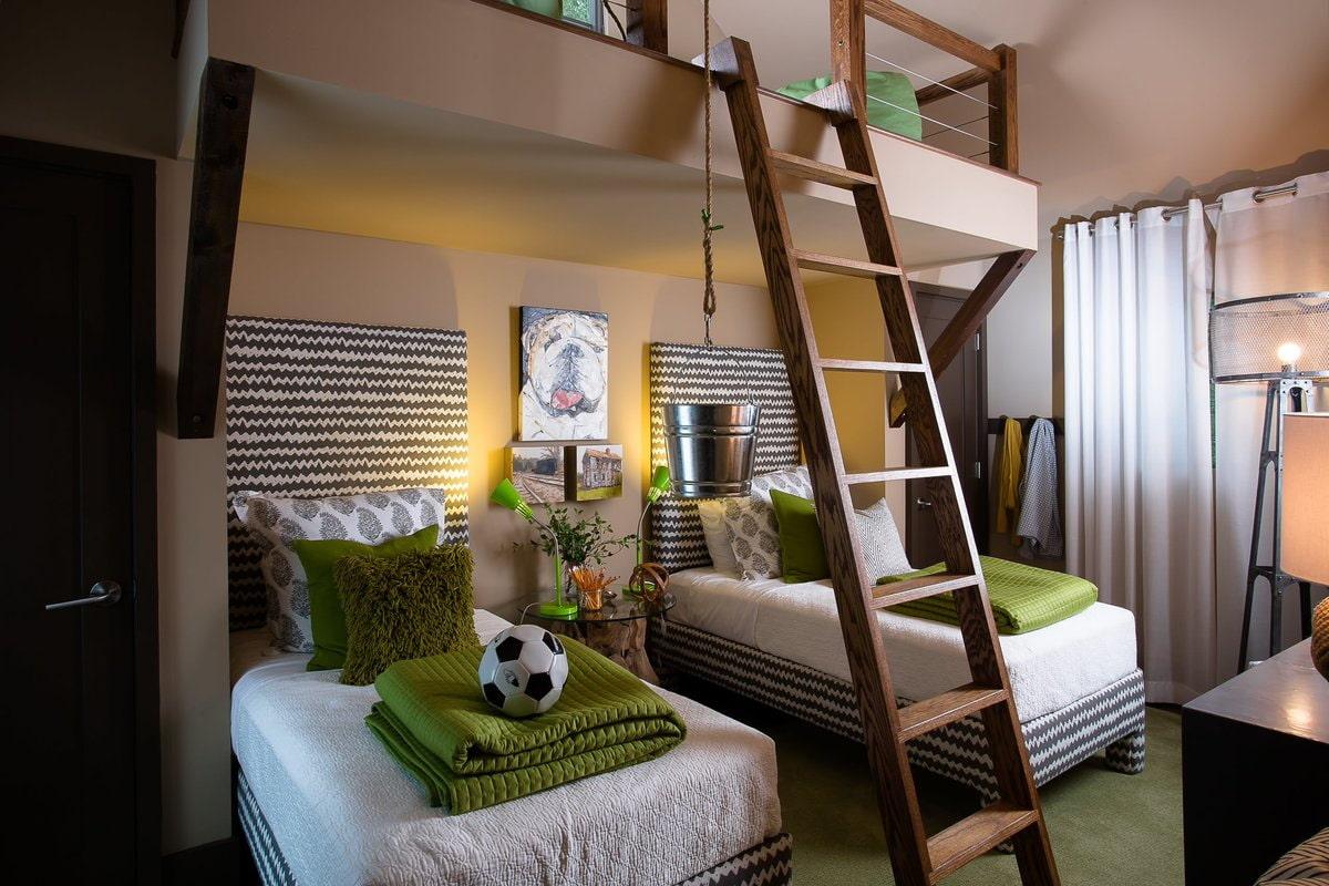 Комнаты для 3-х и более детей фото 24