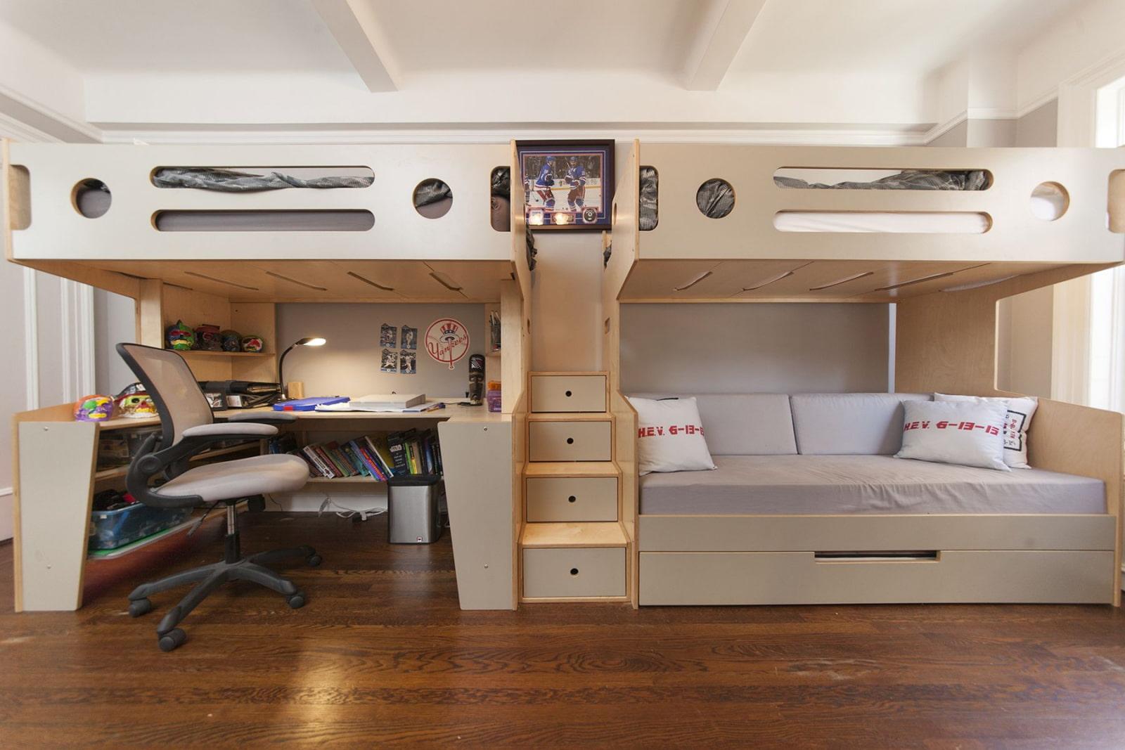 Комнаты для 3-х и более детей фото 27