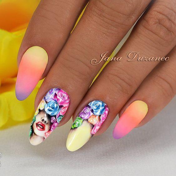 Девушка на ногтях фото 121