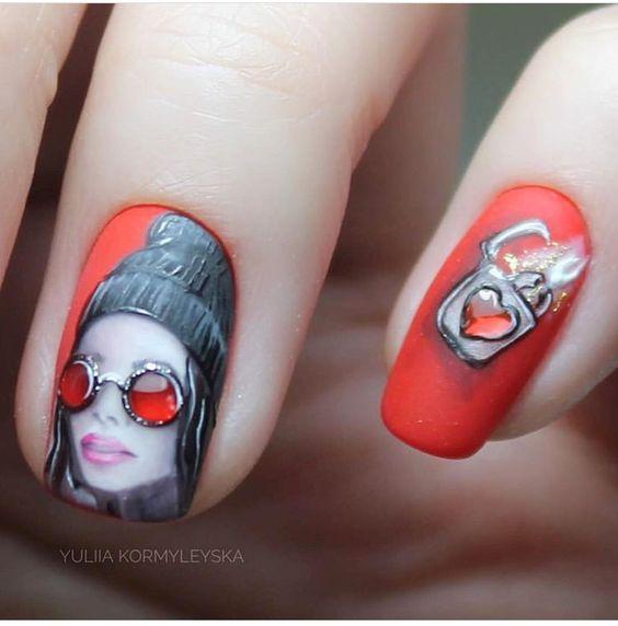 Девушка на ногтях фото 119