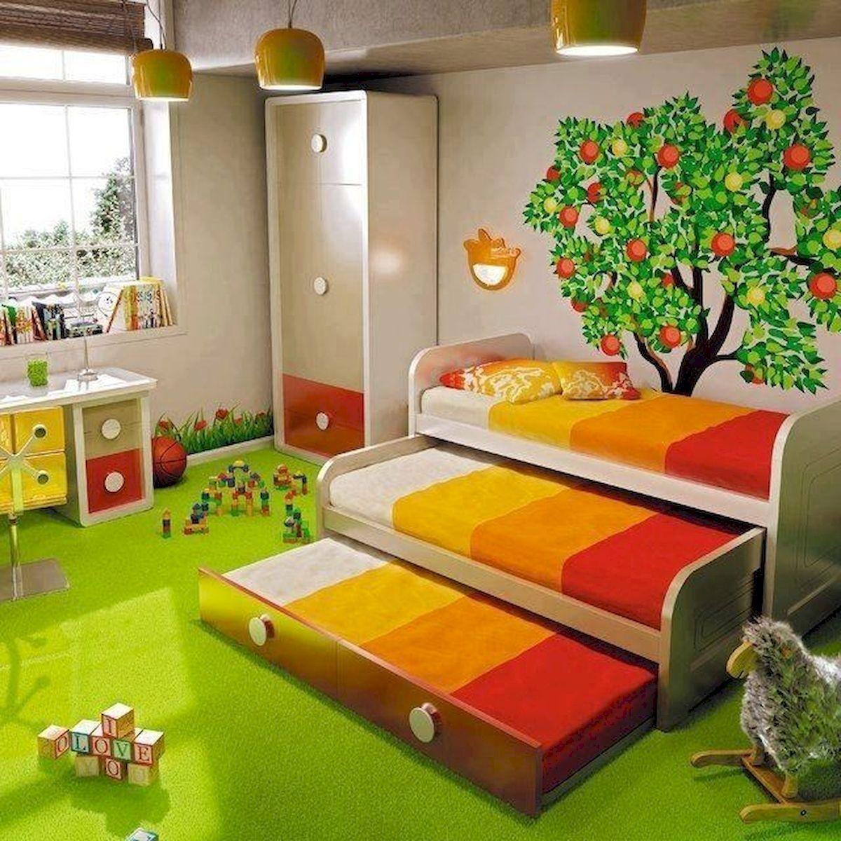 Комнаты для 3-х и более детей фото 12
