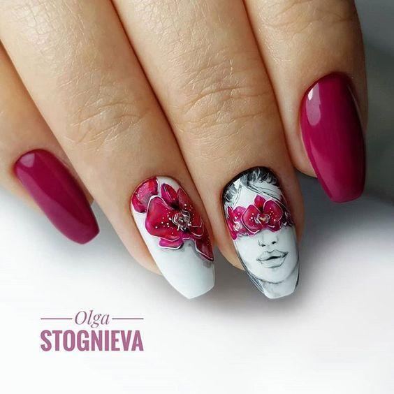 Девушка на ногтях фото 118