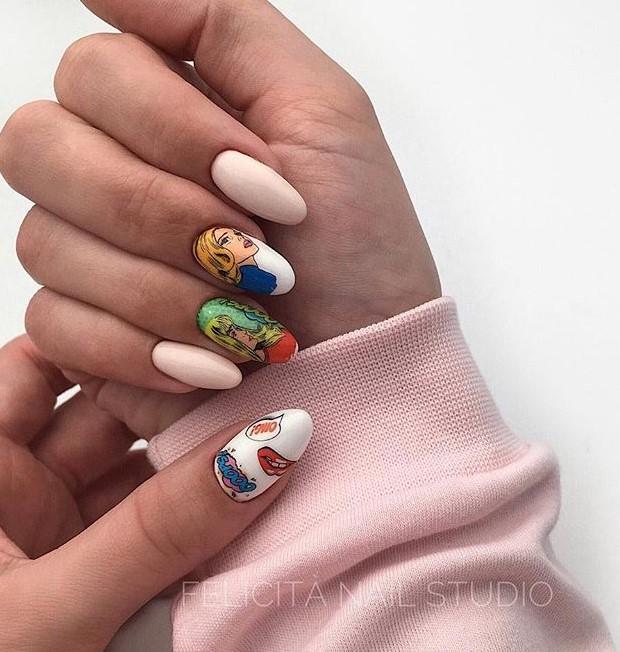 Девушка на ногтях фото 117