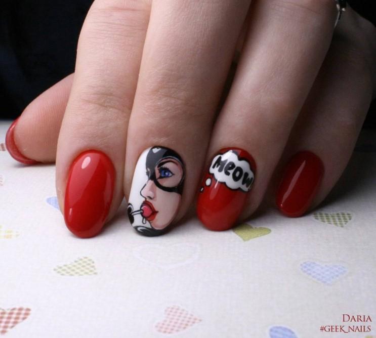 Девушка на ногтях фото 114