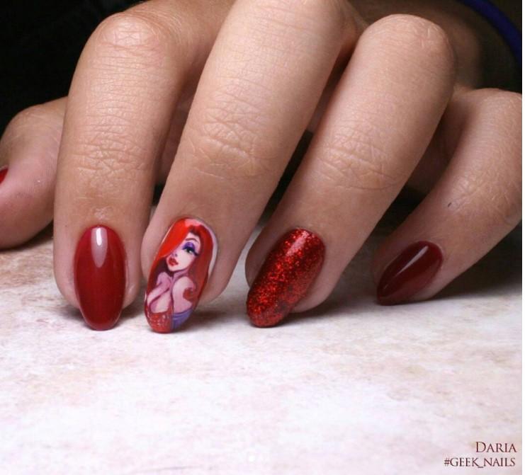 Девушка на ногтях фото 113