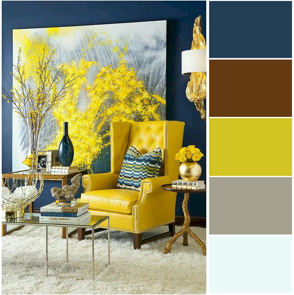 Грамотное сочетание цветов в интерьере фото 24