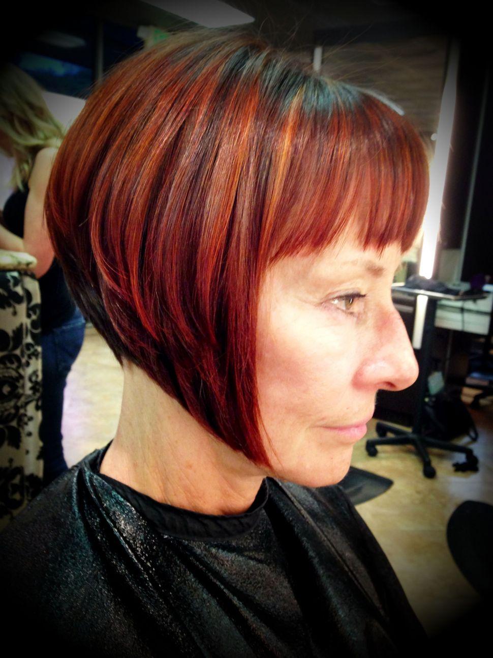 Красные волосы на женщинах 40-50 лет фото 9
