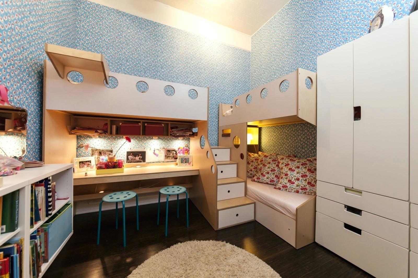 Комнаты для 3-х и более детей фото 37