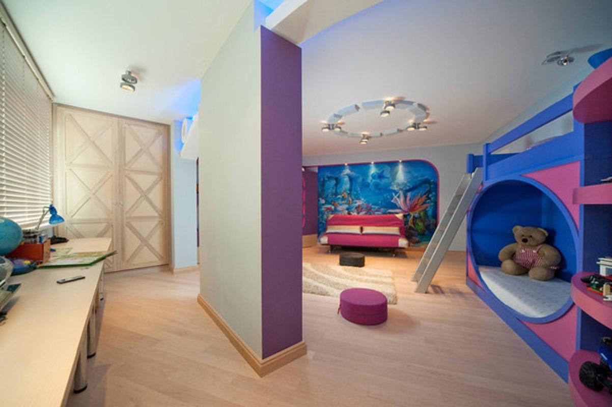 Комнаты для 3-х и более детей фото 13