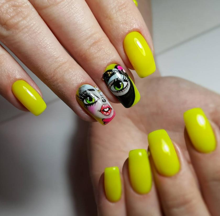 Девушка на ногтях фото 109