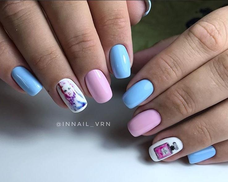 Девушка на ногтях фото 104