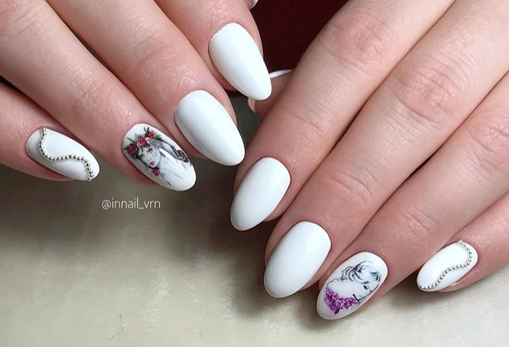 Девушка на ногтях фото 103