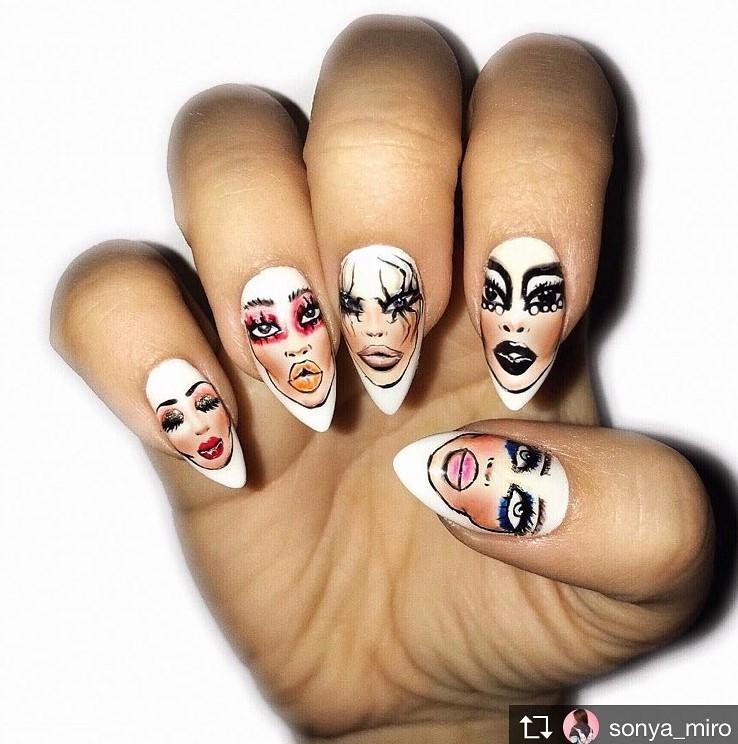 Девушка на ногтях фото 101