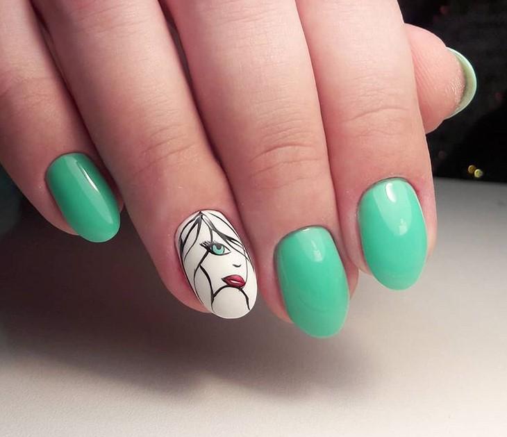 Девушка на ногтях фото 99