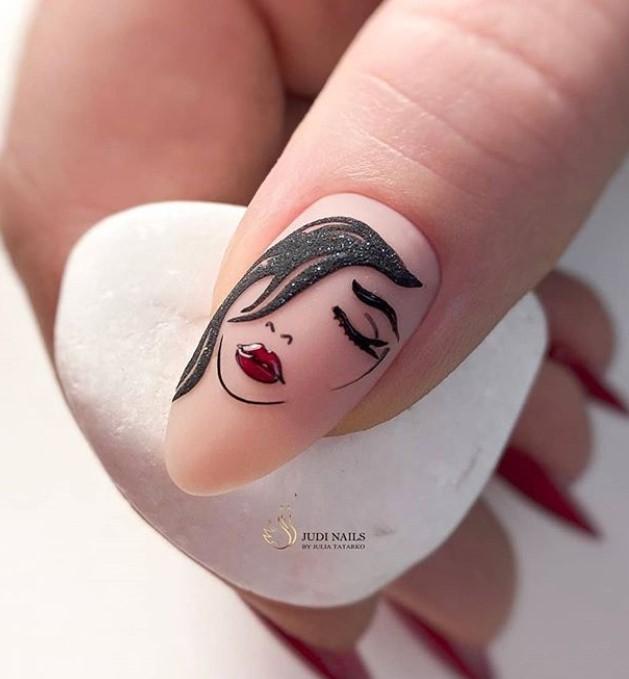 Девушка на ногтях фото 98