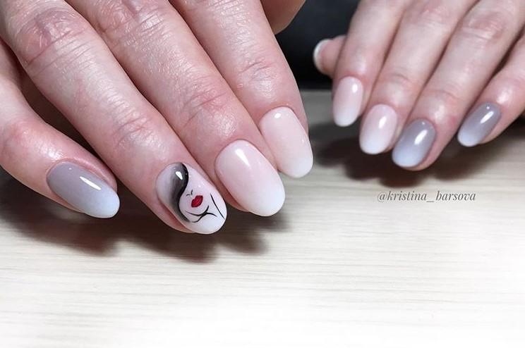 Девушка на ногтях фото 90