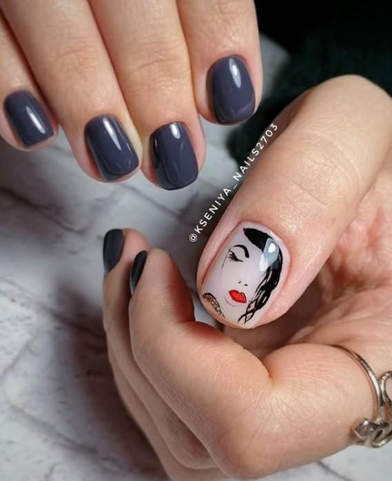 Девушка на ногтях фото 89