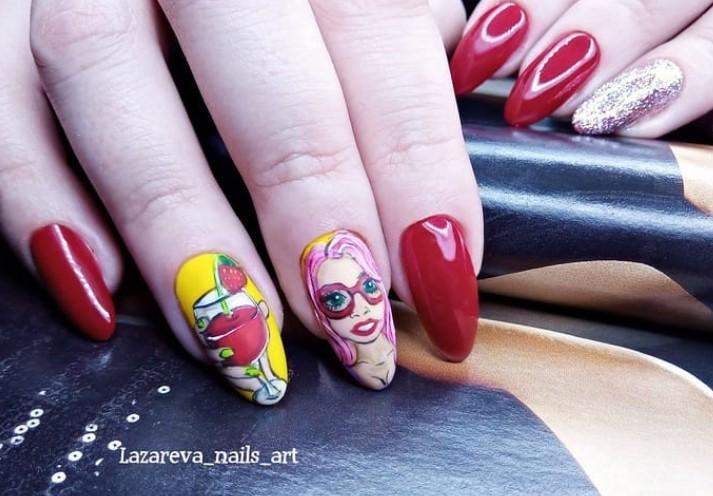 Девушка на ногтях фото 87
