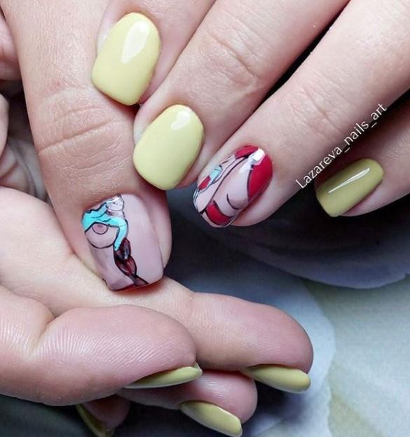 Девушка на ногтях фото 86