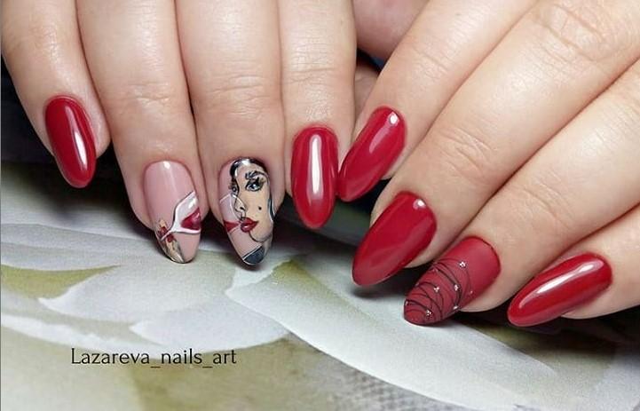 Девушка на ногтях фото 85