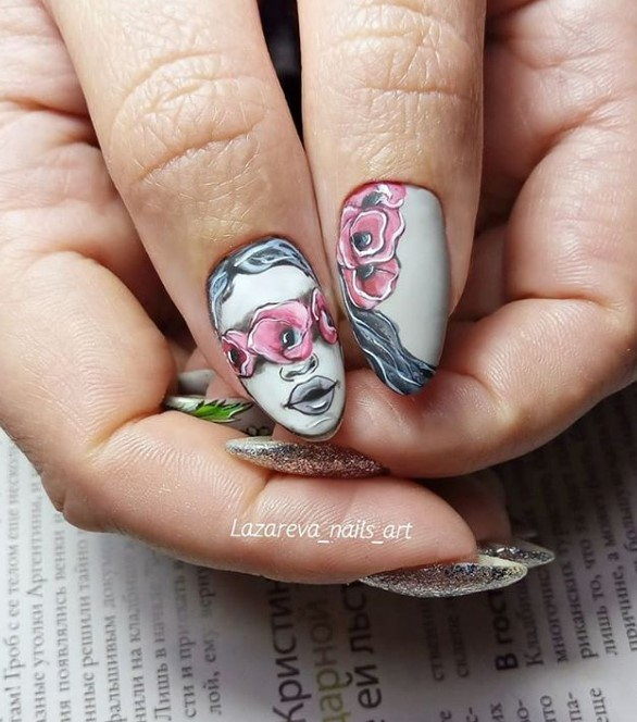 Девушка на ногтях фото 84
