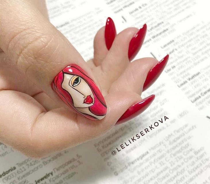 Девушка на ногтях фото 83